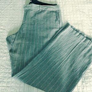Gap Pink Pinstripe Pant Wide Leg Trouser